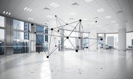 Establecimiento de una red y conexión inalámbrica como concepto para el modo de direccionamiento efectivo fotos de archivo