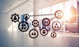Establecimiento de una red y conexión inalámbrica como concepto para el modo de direccionamiento efectivo fotografía de archivo libre de regalías