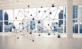 Establecimiento de una red y conexión inalámbrica como concepto para el modo de direccionamiento efectivo imagen de archivo libre de regalías