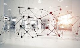 Establecimiento de una red y conexión inalámbrica como concepto para el modo de direccionamiento efectivo foto de archivo libre de regalías