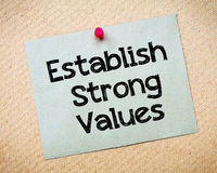 Establish Strong Values Stock Photography
