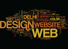 Establish Your Web With Different Web Design Text Background  Word Cloud Concept Royalty Free Stock Images