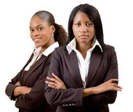 Established Business Women. This is an image of a business team consisting of two businesswomen. This image can be used to represent anything that communicates Royalty Free Stock Image