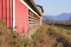 Established Farm Building and Rural Landscape Stock Image