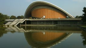 Schwangere Auster, House of the Cultures of the world, Berlin. Establishing shot of the Haus der Kulturen der Welt House of the Cultures of the World. The stock footage