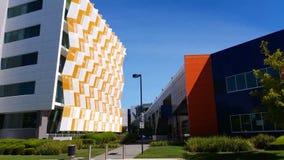 Establishing shot modern architecture building stock video