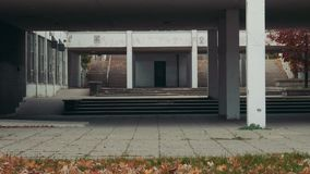 Establishing shot of an open courtyard. 4K footage. Establishing shot of an open courtyard of a school, court or apartment building stock video footage