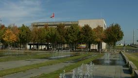 Swiss embassy in Berlin. Establishing shot of the Swiss embassy in Berlin, located next to the German chancellery stock video