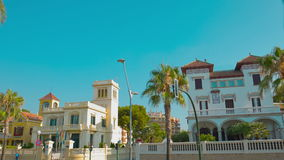 Establishing shot typical Spanish house, Salou. Costa Daurada in Catalonia, Spain, shot in RAW 4K stock video footage