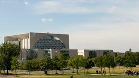 Bundeskanzleramt / Kanzleramt / Chancellery Berlin. Establishing time lapse shot of the German Bundeskanzleramt / Kanzleramt / Chancellery, the seat of the stock video footage
