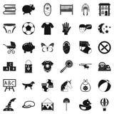 Establishment icons set, simple style. Establishment icons set. Simple set of 36 establishment vector icons for web isolated on white background Stock Photo