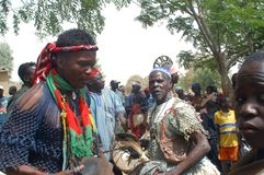 Establishment of a usual chief in Burkina Faso Royalty Free Stock Photography