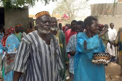 Establishment of a usual chief in Burkina Faso Stock Images
