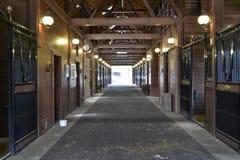 Establo vacío del caballo Foto de archivo