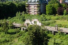 Establos viejos de Milano cerca del estadio de San Siro Fotos de archivo