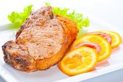 Estaca apetitosa com vegetais Imagem de Stock Royalty Free