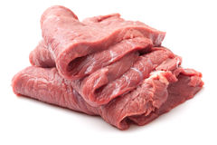 Estaca crua da carne fotografia de stock