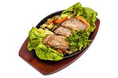 estaca da carne de porco Fotos de Stock