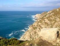 Estaca de Bares είναι το πιό βορειότατο σημείο της ιβηρικής χερσονήσου Επαρχία ενός Coruna, Γαλικία, βόρεια Ισπανία στοκ φωτογραφία