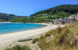 Estaca de Bares, μικρό χωριό στη βόρεια Γαλικία, Ισπανία στοκ εικόνα με δικαίωμα ελεύθερης χρήσης