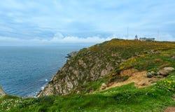 Estaca de Bares Lighthouse Ισπανία στοκ εικόνα με δικαίωμα ελεύθερης χρήσης