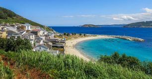Estaca de Bares, piccolo villaggio in Galizia del Nord, Spagna fotografia stock