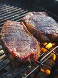 Estaca do churrasco do alimento Fotografia de Stock