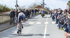 A estaca Laengen de Vegard do ciclista - 2016 Paris-agradável Imagens de Stock