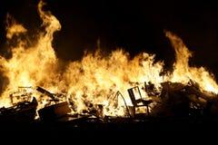 A estaca realizada em San Juan na noite imagem de stock