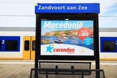 Estación aan de Zandvoort Zee Fotografía de archivo libre de regalías