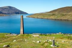 Estación arruinada de la pesca de ballenas, isla de Harris, Escocia Imagen de archivo libre de regalías