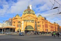 Estación Australia del stree del flinders de Melbournes Foto de archivo libre de regalías
