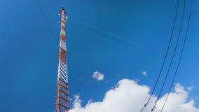 Estación base de la comunicación celular móvil almacen de video