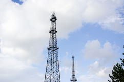 Estación base de la comunicación móvil fotografía de archivo libre de regalías