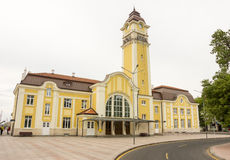 Estación Burgas en Bulgaria imagen de archivo libre de regalías