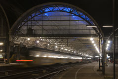 Estación central de Amsterdam Imagen de archivo libre de regalías