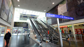 Estación central de Klagenfurt - interior Imagen de archivo