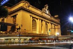 Estación central de Nueva York en la noche Imágenes de archivo libres de regalías