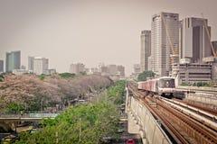 Estación Chatuchak, Bangkok, Tailandia de Mo Chit BTS imágenes de archivo libres de regalías