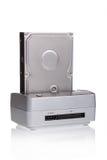 Estación de acoplamiento del disco duro Imagen de archivo libre de regalías