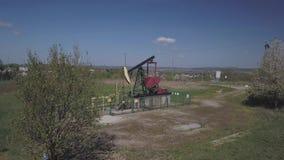 Estación de bomba de aceite Tansport y distribución del aceite Tecnología del sistema de transporte del aceite Tr almacen de metraje de vídeo