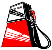Estación de bomba de gasolina stock de ilustración