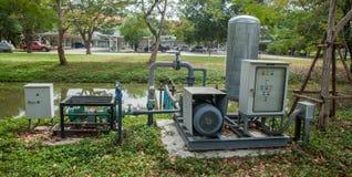Estación de bombeo de aguas residuales Fotos de archivo libres de regalías