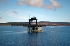Estación de bombeo de la presa Imagen de archivo libre de regalías