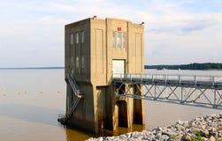 Estación de bombeo de la presa de Arkabutla, Robinsonville Mississippi Fotografía de archivo libre de regalías