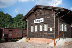 Estación de carril de Radegast imágenes de archivo libres de regalías