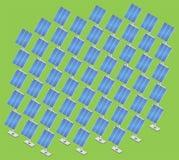 Estación de energía solar isométrica Imagen de archivo libre de regalías