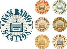 Estación de equipo de radio-aficionado Imagenes de archivo