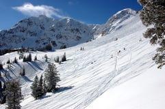 Estación de esquí Foto de archivo libre de regalías