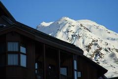 Estación de esquí imagenes de archivo